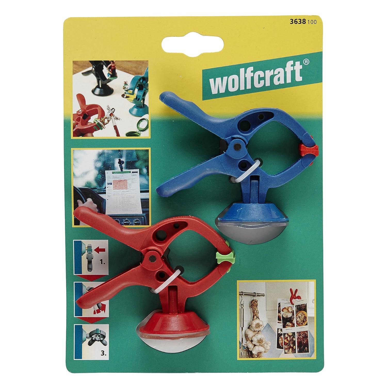 Pince de Serrage /à Ressort /Équip/ée Dune Ventouse Wolfcraft 3638100 2 Microfix