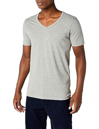 JACK   JONES Herren T-Shirt Kurzarmshirt Basic (XS, Light Grey Melange) c8ca560d30