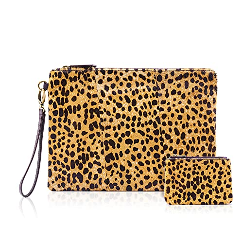 Amazon.com: Cartera de piel de leopardo con monedas, para ...