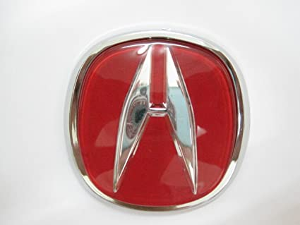 Amazoncom Acura Red Emblem Auto Car Accessories By Chrome D Badge - Red acura emblem