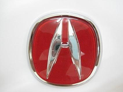 Amazoncom Acura Red Emblem Auto Car Accessories By Chrome D Badge - Acura symbol for car