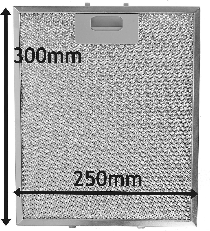 Spares2go Malla Metálica Filtro para Miele campana extractora/extractor ventilación (plata, 300x 250mm)