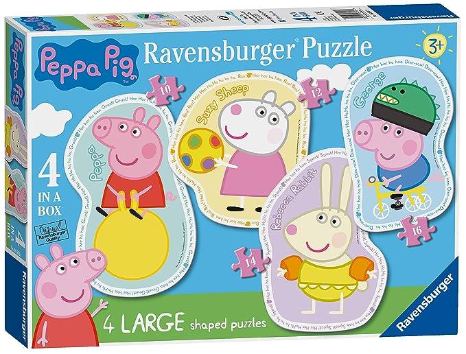 Ravensburger Peppa Pig 4 Puzzles de Sierra Grandes (10,12,14,16pc ...