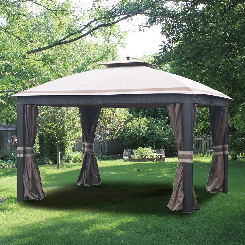 Jardín Vientos de Repuesto toldo y Malla Set para Allen y Roth Mimbre Gazebo – RipLock 350: Amazon.es: Jardín