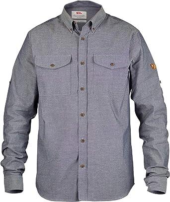 FJALLRAVEN Övik Chambray Shirt M Camisa de Manga Larga, Hombre, Navy, S: Amazon.es: Ropa y accesorios