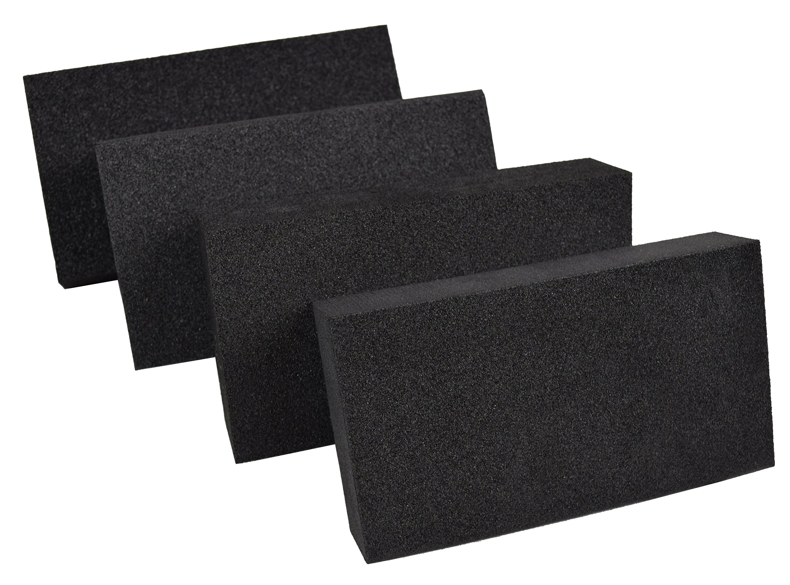 XCEL Power-Block Black Scruff Pad Sanding Block, Pack of 4, Size 5.5'' x 3'' x 1'' by XCEL