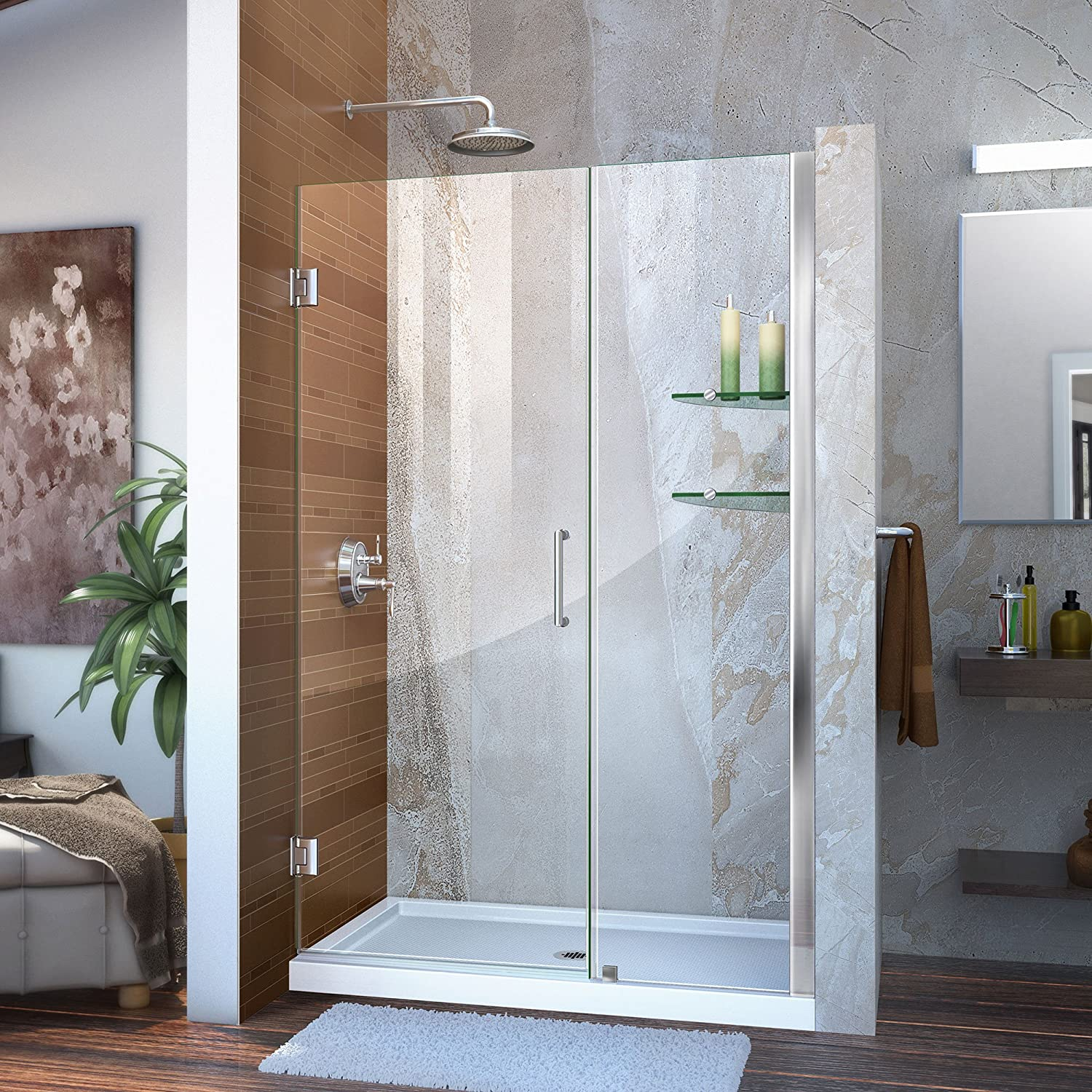 Dreamline Unidoor 45 46 In W X 72 In H Frameless Hinged Shower
