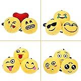 24PCs Emoji Key Chain Mini Plush Pillows Toys for