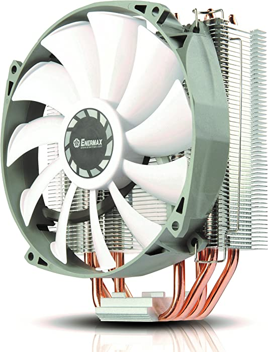 Enermax ETS-T40 Fit Outstanding Cooling Performance CPU Cooler 200W Intel/AMD 140mm Fan - White/Gray, ETS-T40F-RF