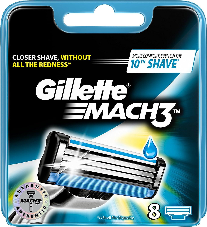Gillette Mach 3 - Cuchillas de recambio para maquinilla de afeitar ...