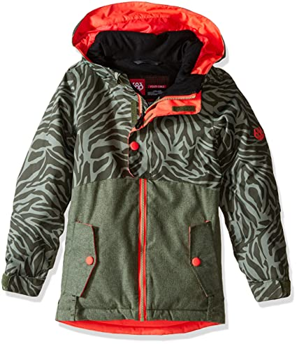 686 Girls Scarlet Insulated Jacket Tiger Army Print Small
