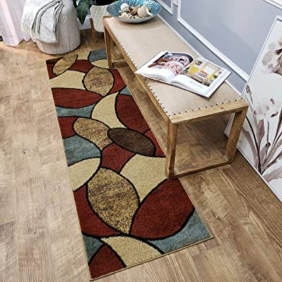 Maxy Home Pasha Oval Circles Multicolor 1 ft. 11 in. x 6 ft. 11 in. Rug Runner