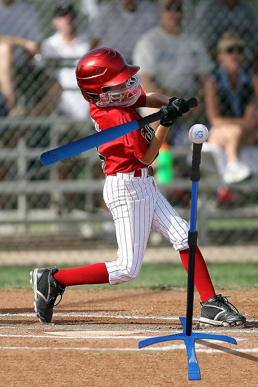 8 Pelotas de b/éisbol de Espuma pr/áctica de Entrenamiento Principiante Colores Surtidos 1 Bate de b/éisbol de Espuma Macro Giant 27 Pulgadas de Juego de Pelota