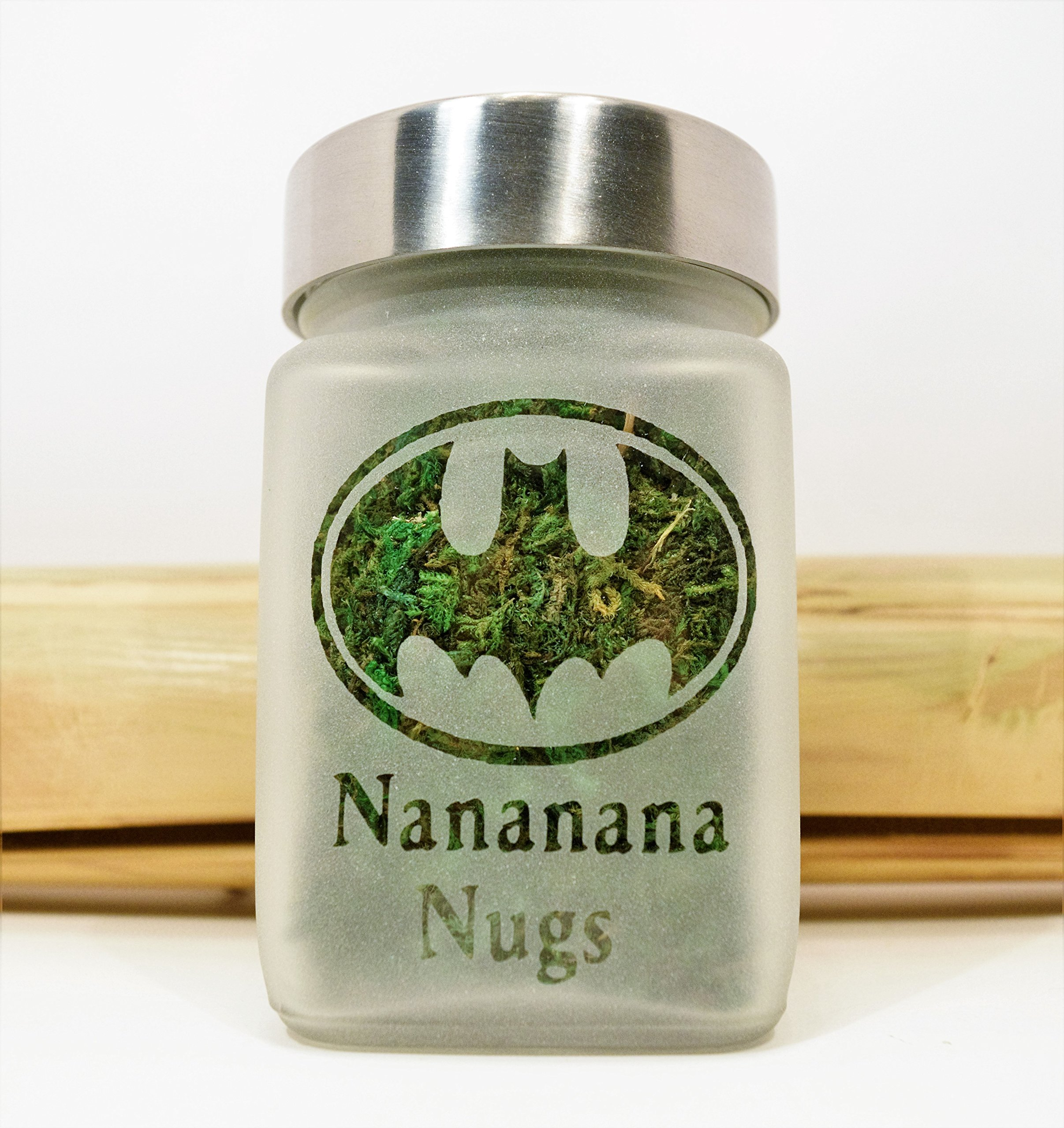 Retro Batman Stash Jar | Nananana Nugs Weed Jar and Weed Accessories | Stoner Gifts, Stash Jars & Stoner Accessories by Twisted420Glass (Image #2)