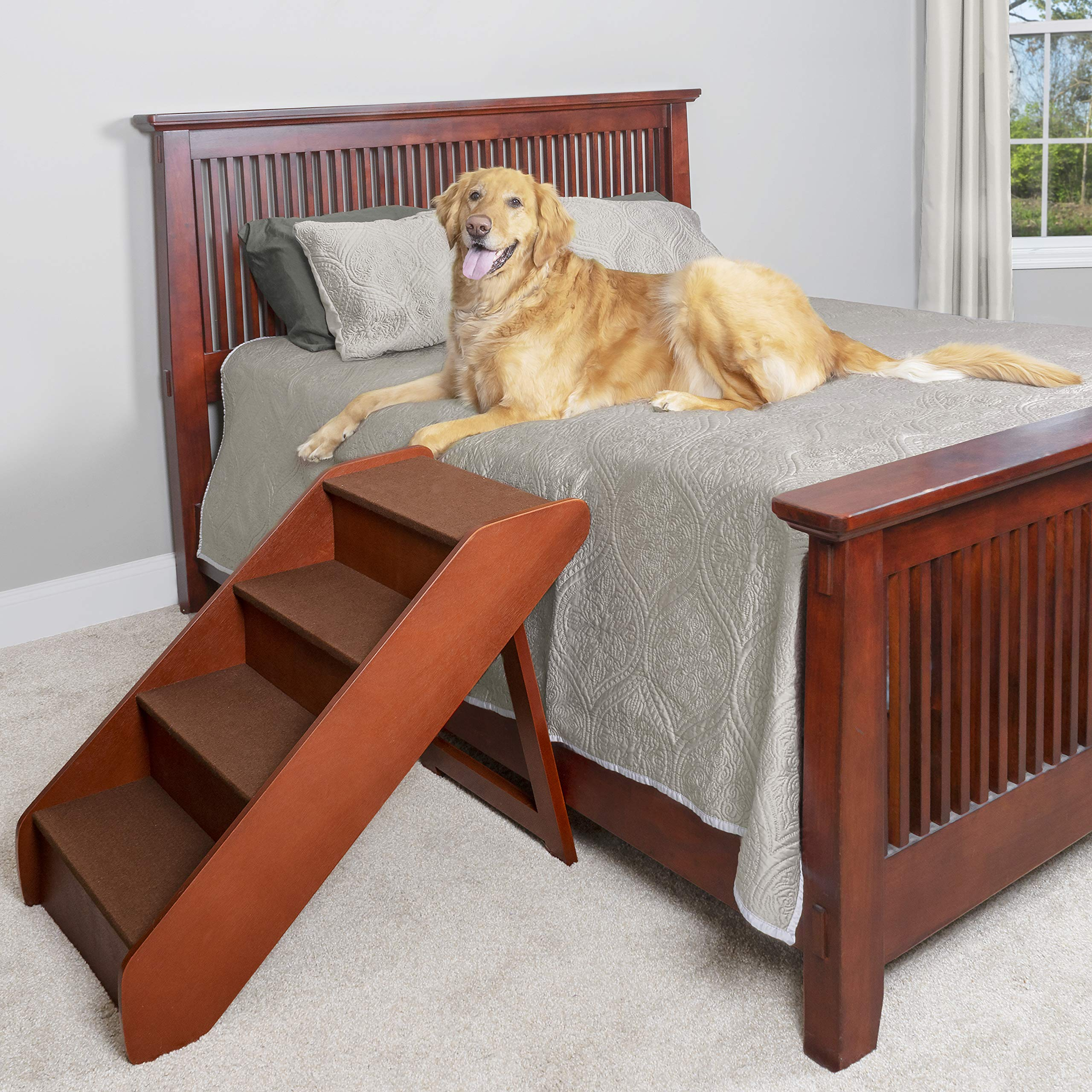 PetSafe Solvit PupSTEP Wood Pet Stairs for Dogs and Cats, Foldable - X-Large by PetSafe