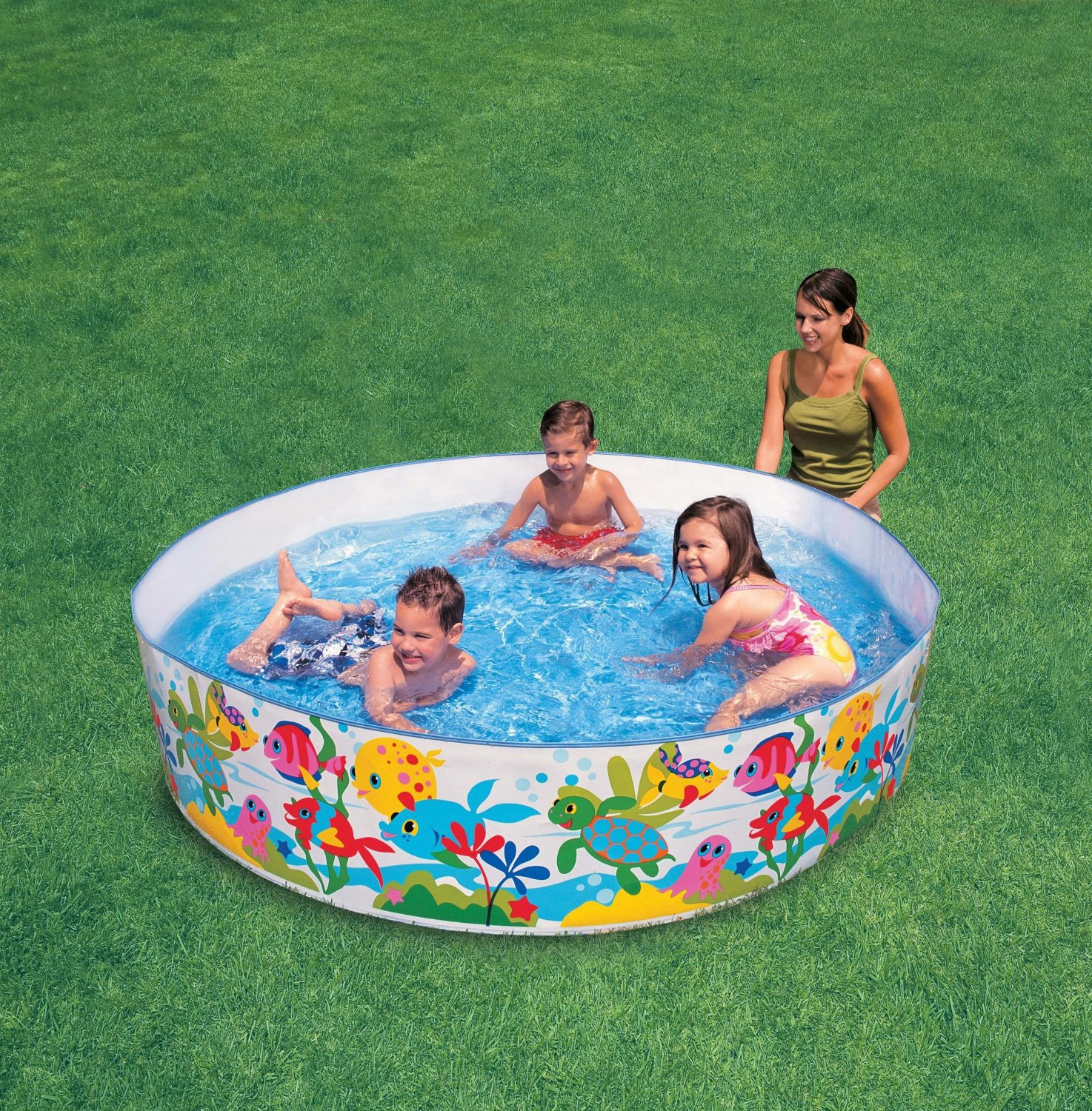 Buy Intex Inflatable Snapset Pool Multi Color 6 feet line at
