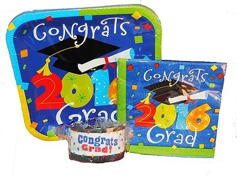 amazon com 2016 graduation plates and napkins plus graduation
