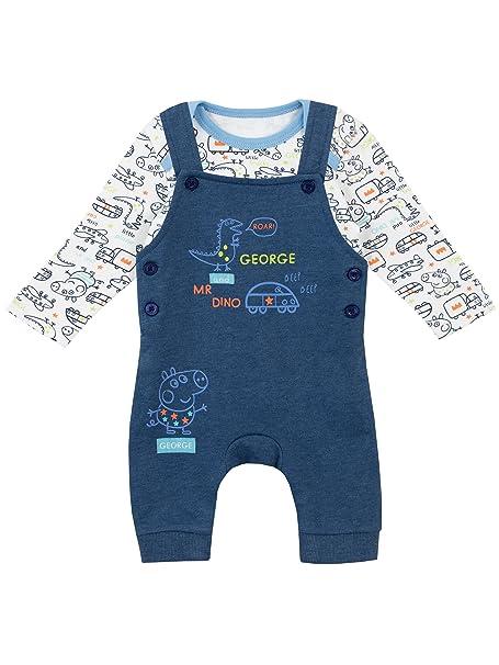 Peppa Pig - Conjunto de Peto para Niños Bebés - George Pig - 12 a 18 Meses: Amazon.es: Ropa y accesorios