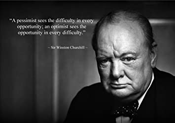 Winston Churchill Quote Inspirational Poster Print Picture 10 A3