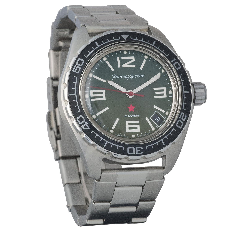 Artículo nuevo. Vostok Komandirskie 200 WR - Reloj de pulsera mecánico automático para hombre # 020715