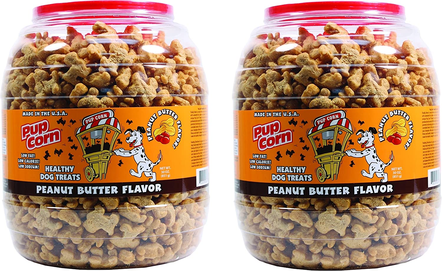 2 Pack Triumph Pet Industries-Pup Corn Dog Treats Barrel- Peanut Butter 30 Ounce