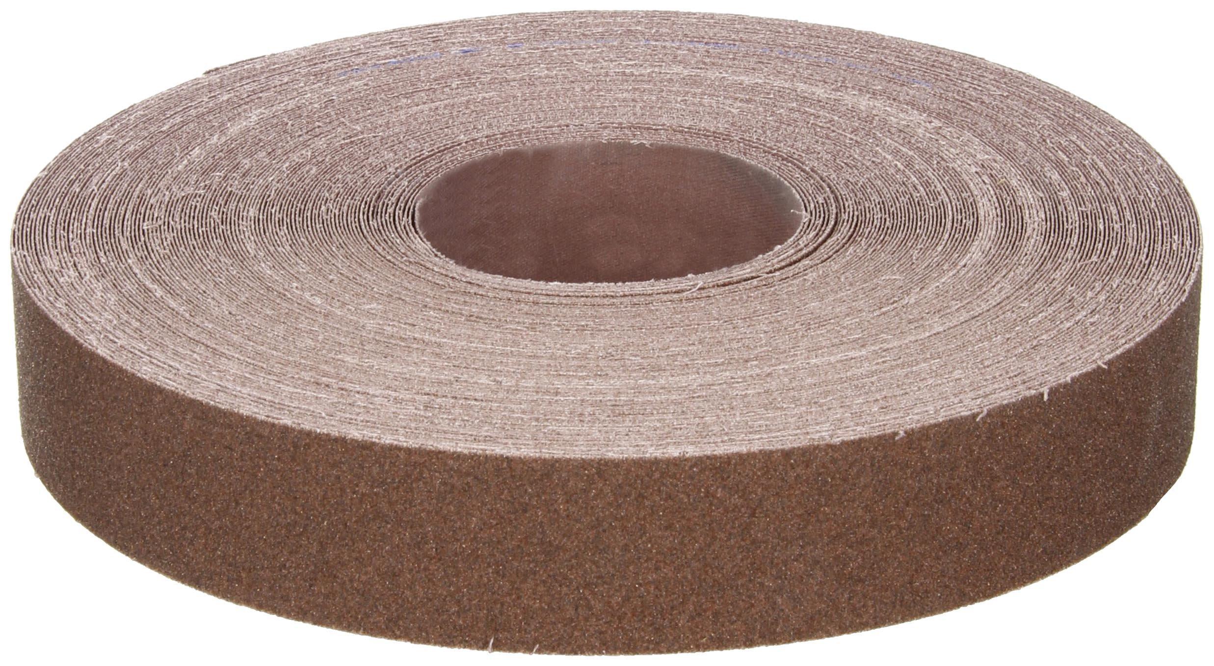 Norton K225 Metalite Abrasive Roll, Cloth Backing, Aluminum Oxide, 1-1/2'' Width x 50yd Length, Grit P80 by Norton Abrasives - St. Gobain
