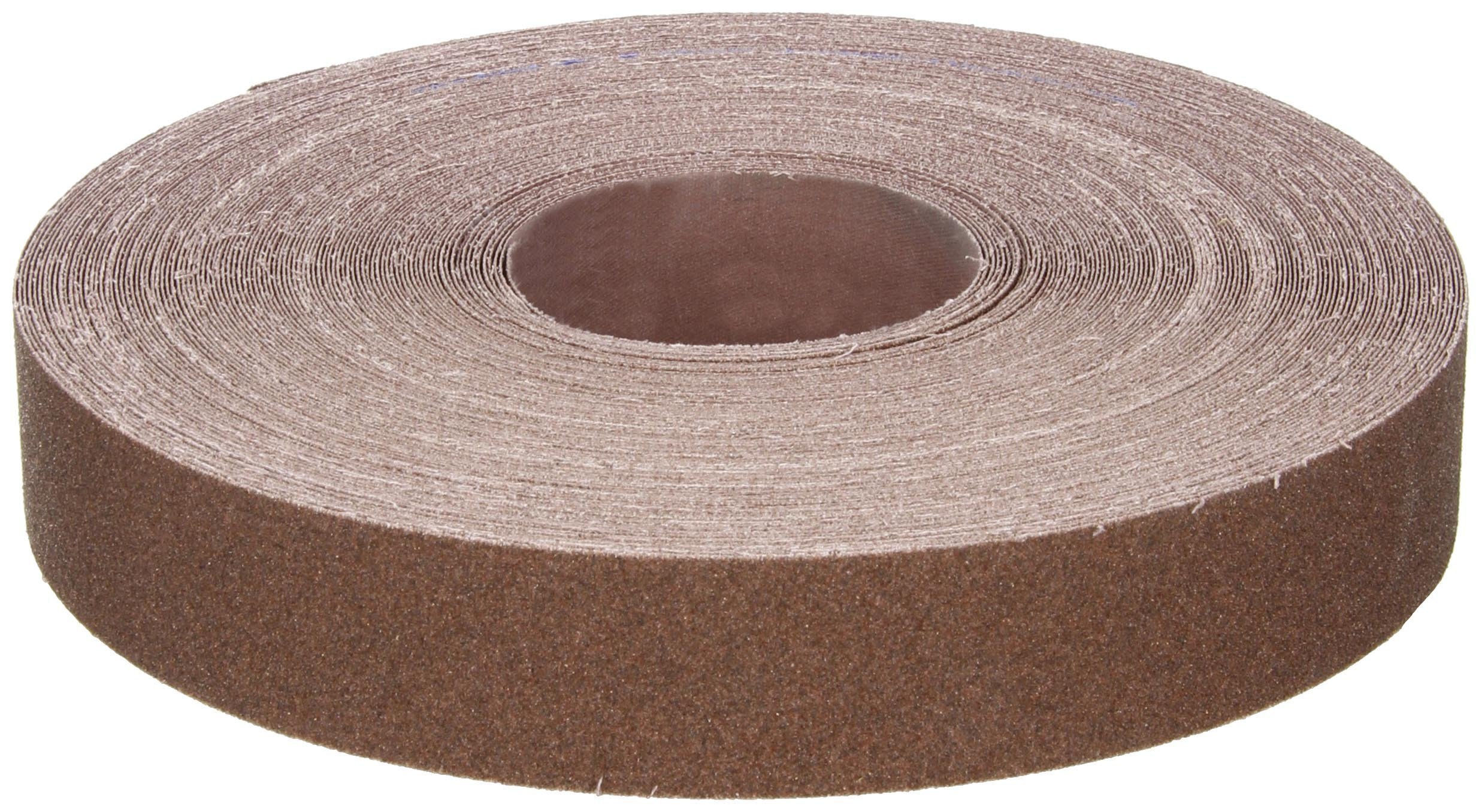 Norton K225 Metalite Abrasive Roll, Cloth Backing, Aluminum Oxide, 1-1/2'' Width x 50yd Length, Grit P80