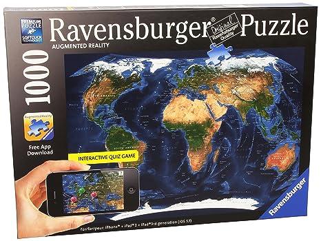 Amazon satellite world map augmented reality jigsaw puzzle satellite world map augmented reality jigsaw puzzle 1000 piece gumiabroncs Choice Image