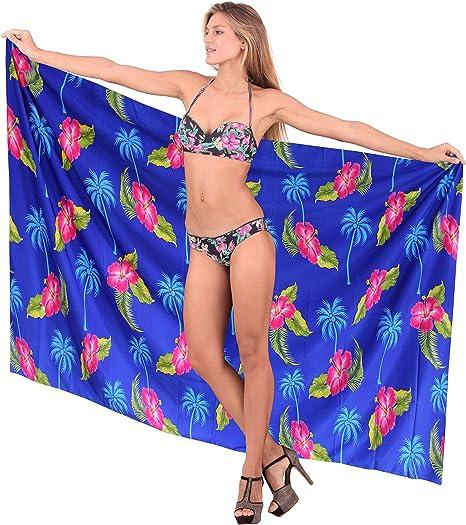 LA LEELA Mujer Kaftan Rayón Túnico Bordado Kimono Estilo Más tamaño Vestido para Loungewear Vacaciones Ropa de Dormir & Cada día Cubrir para Arriba Tops Camisolas Playa A