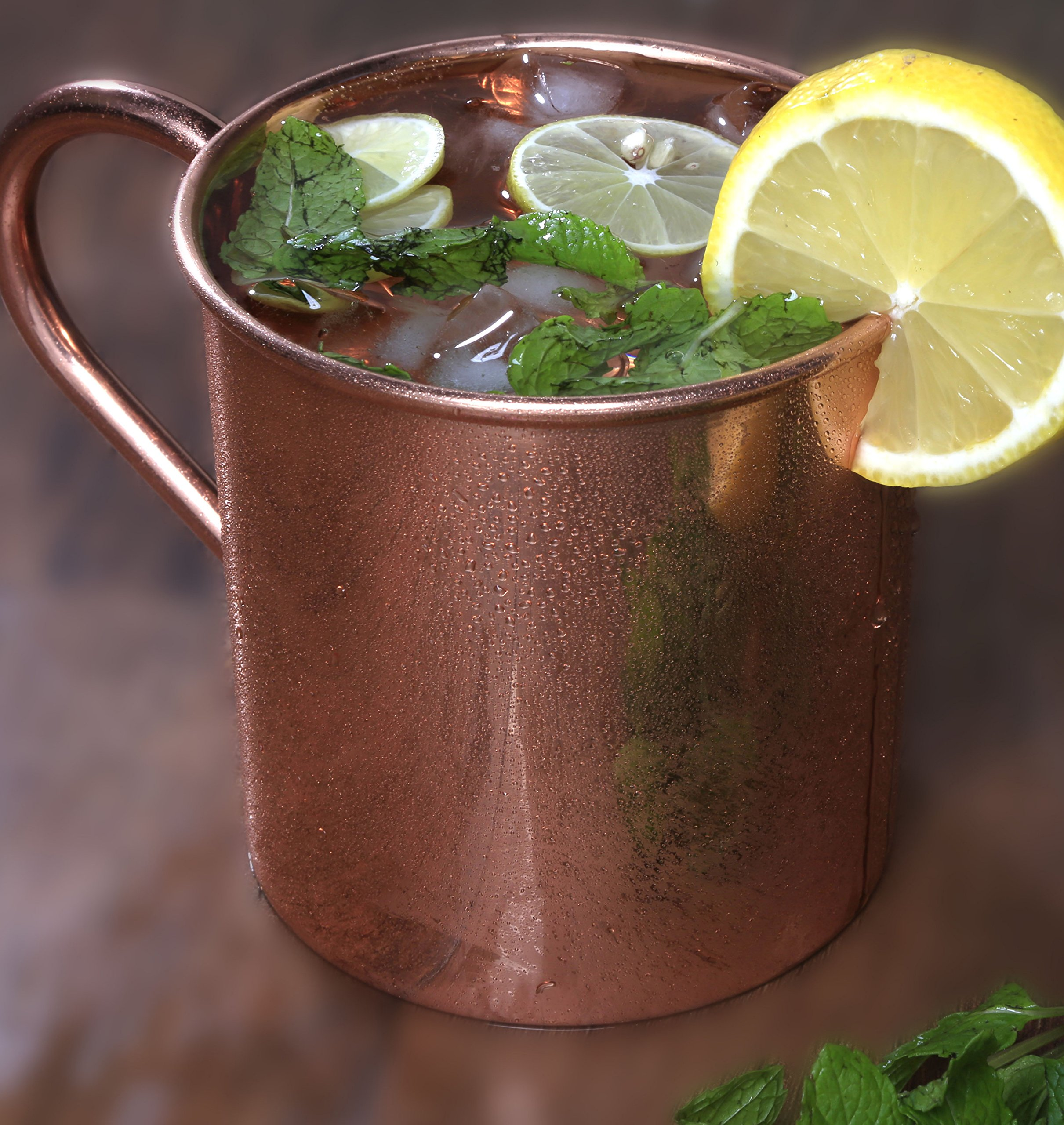 Melange Set of 4 Copper Classic Mug for Moscow Mules - 24 oz - 100% Pure Copper - Heavy Gauge - No lining - Includes FREE Recipe book