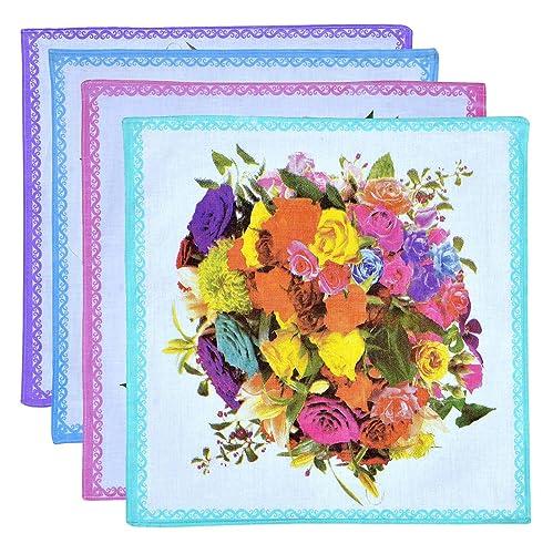 Roopalee Digital impresa floral señoras del algodón Pañuelo paquete de 12 piezas del pañuelo pañuelo...