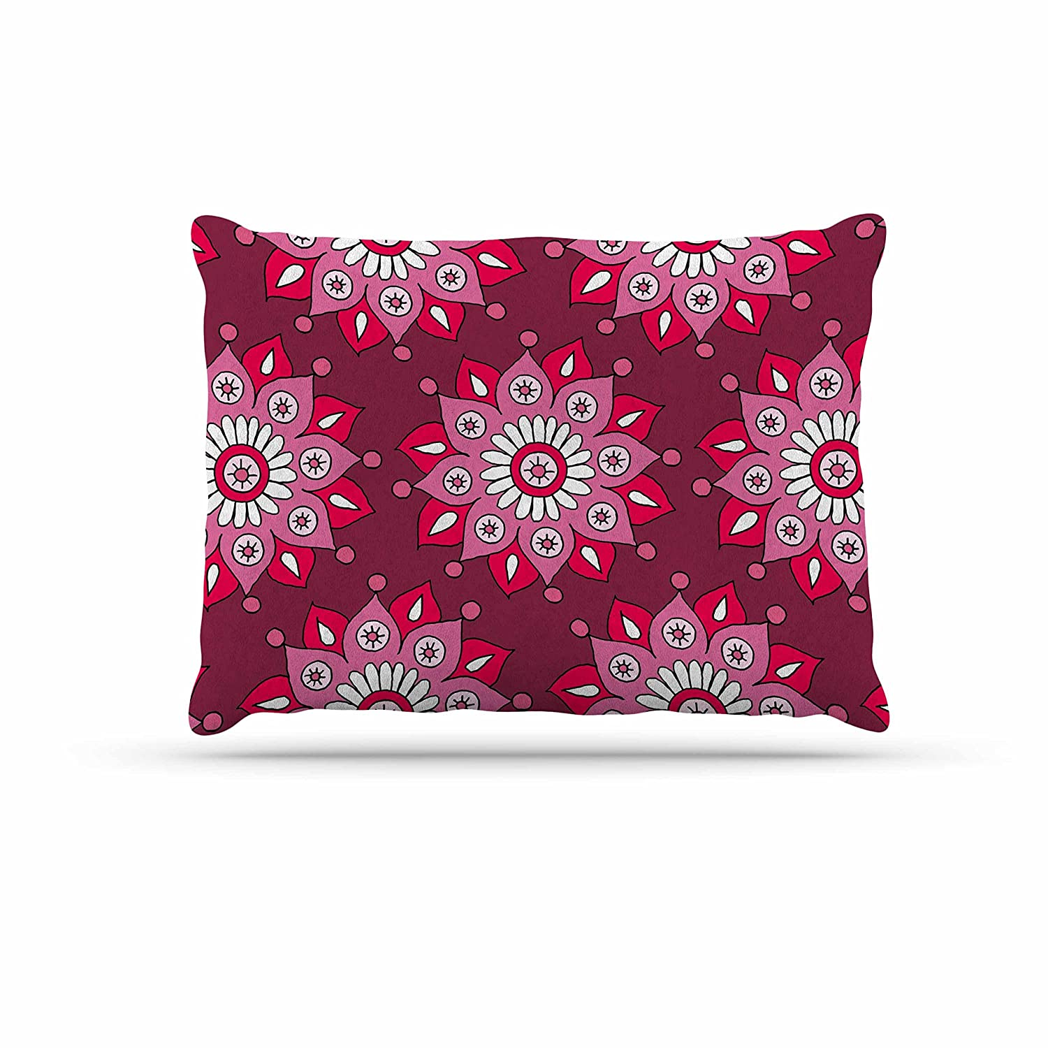 KESS InHouse Sarah Oelerich Teal Tribal Pink Purple Dog Bed, 50  x 40