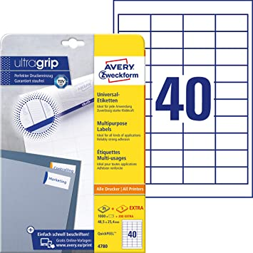 200 Integriertes Etikett links oben DIN A4 Blatt weiß 80 mm x 110 mm Laser,Inkj