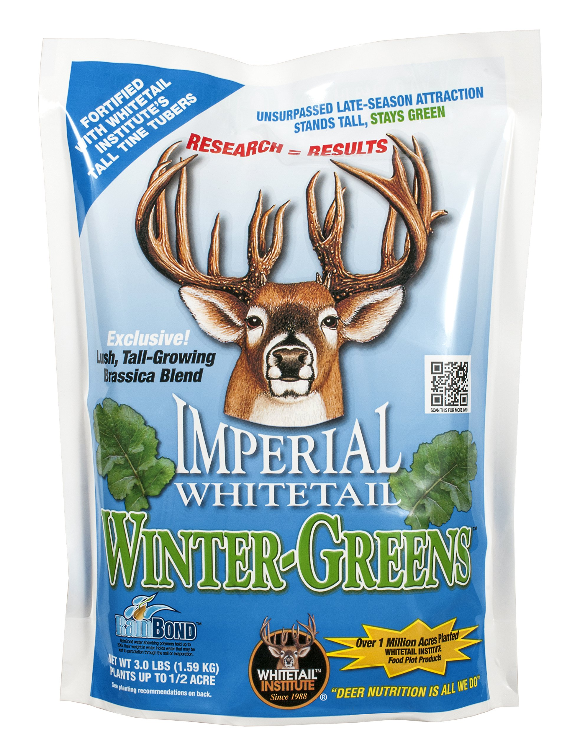 Whitetail Institute Imperial Winter-Greens Food Plot Seed (Fall Planting), 12-Pound (2 Acres) by Whitetail Institute