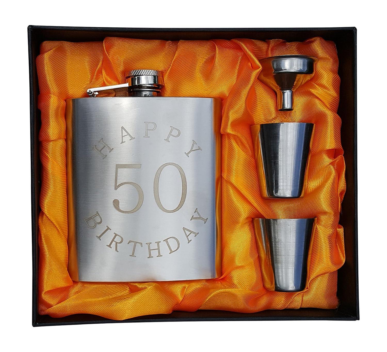 Happy Birthday 50 Flask Pallone da 198,4 gram per cinquantesimo b-day