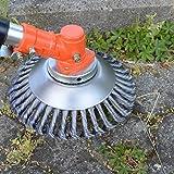 ! PROFI ! Unkrautbürste Wildkrautbürste MOTORSENSE 25,4 x 200 mm Hohe Standfestigkeit - sehr robust - leichte Montage