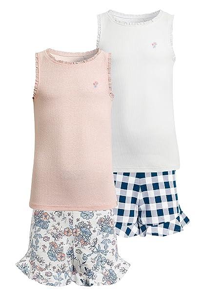 next Niñas Pack De Dos Pijamas Cortos De Guinga Y Estampado Floral (3-16