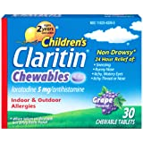 Claritin Children's Chewable Tablet, Grape, 30 Count, 5 mg