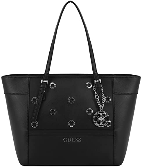 030d32bd73 Guess pour femme Delaney Sac fourre-tout - Noir - noir, Taille unique:  Amazon.fr: Chaussures et Sacs