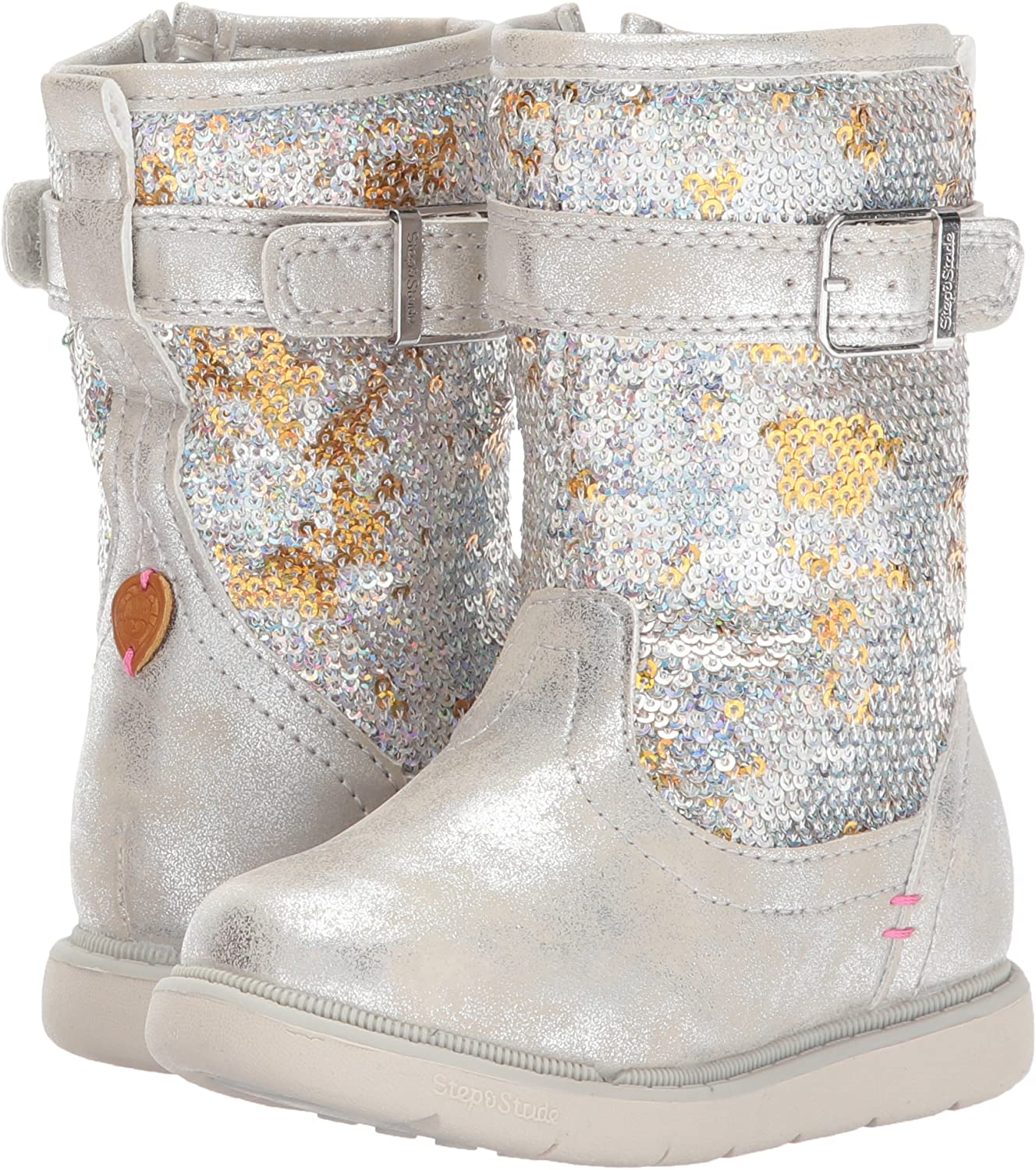 Step /& Stride Kids Girls Ciara Tall Sequin Boot Fashion