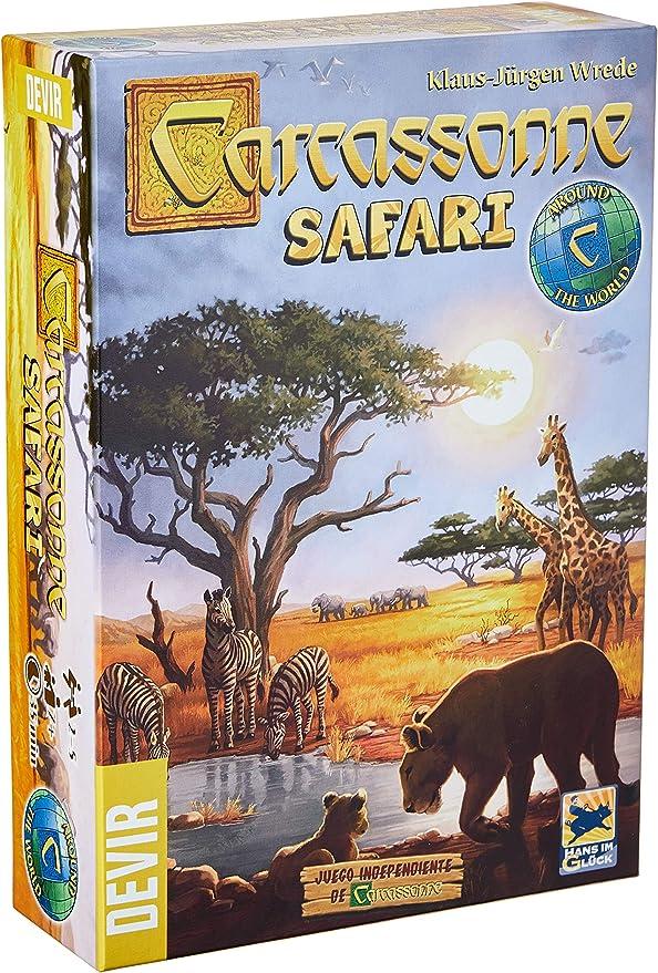Devir- Carcassonne Safari - Juego de Mesa, Color (BGCARSA): Amazon.es: Juguetes y juegos