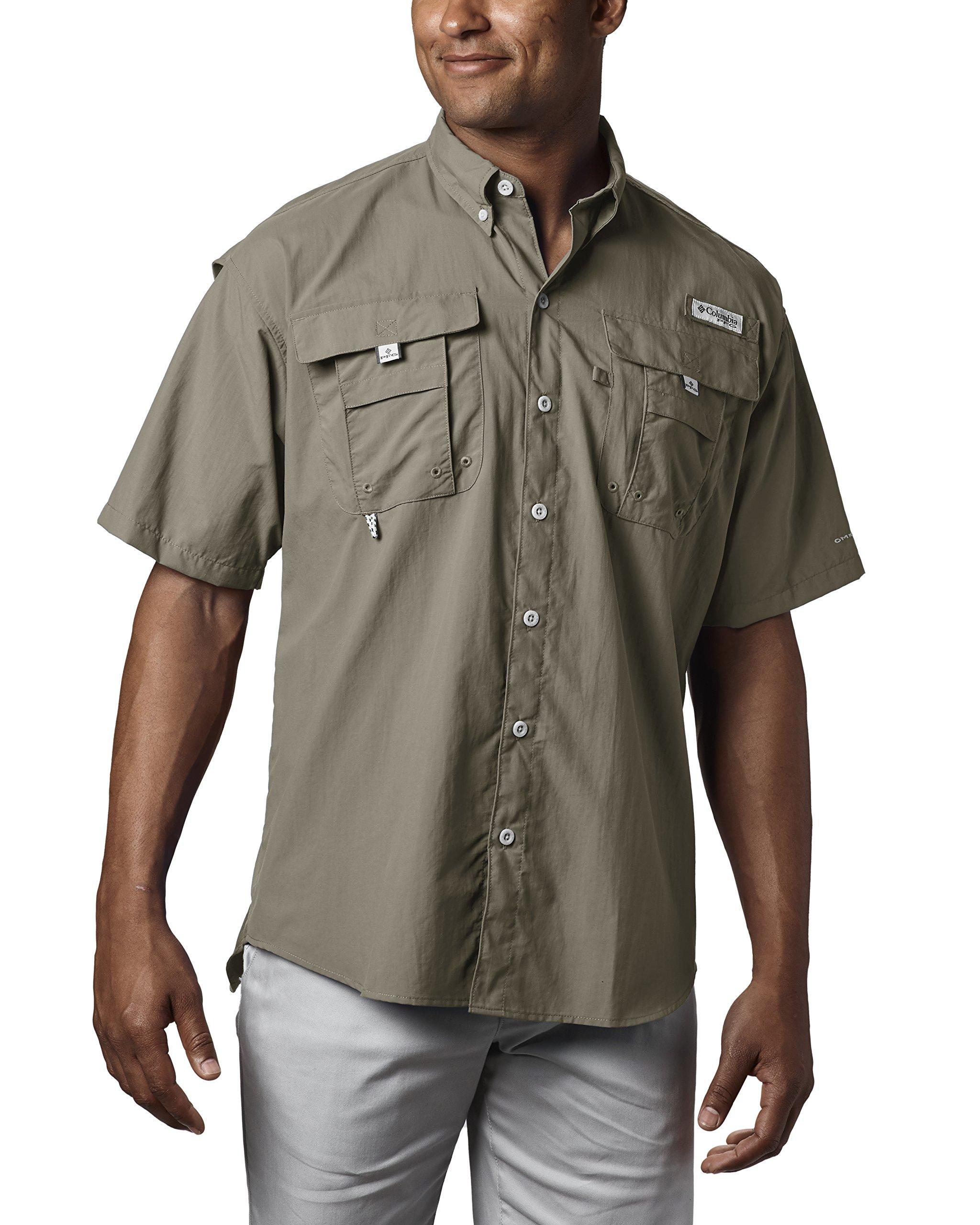 Columbia Men's PFG Bahama II Short Sleeve Shirt, Sage, X-Small