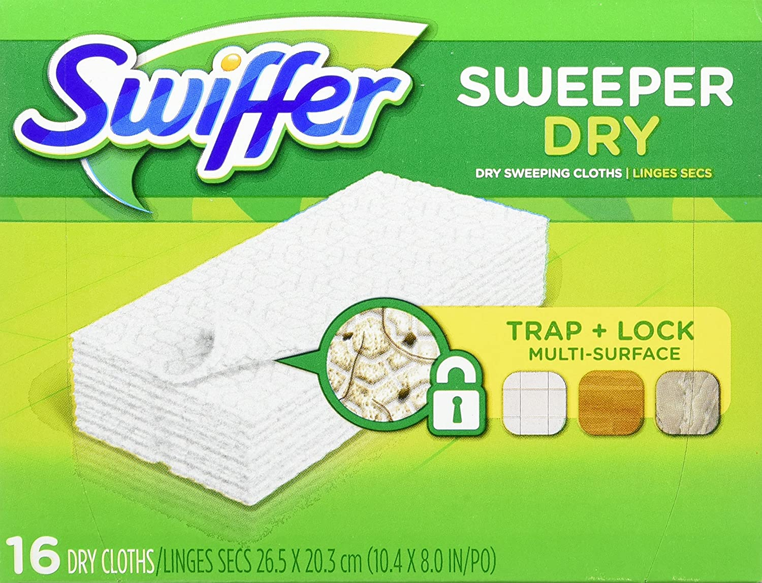 Swiffer Disposable Cloth Dry Sweeping Refills, 16 Count