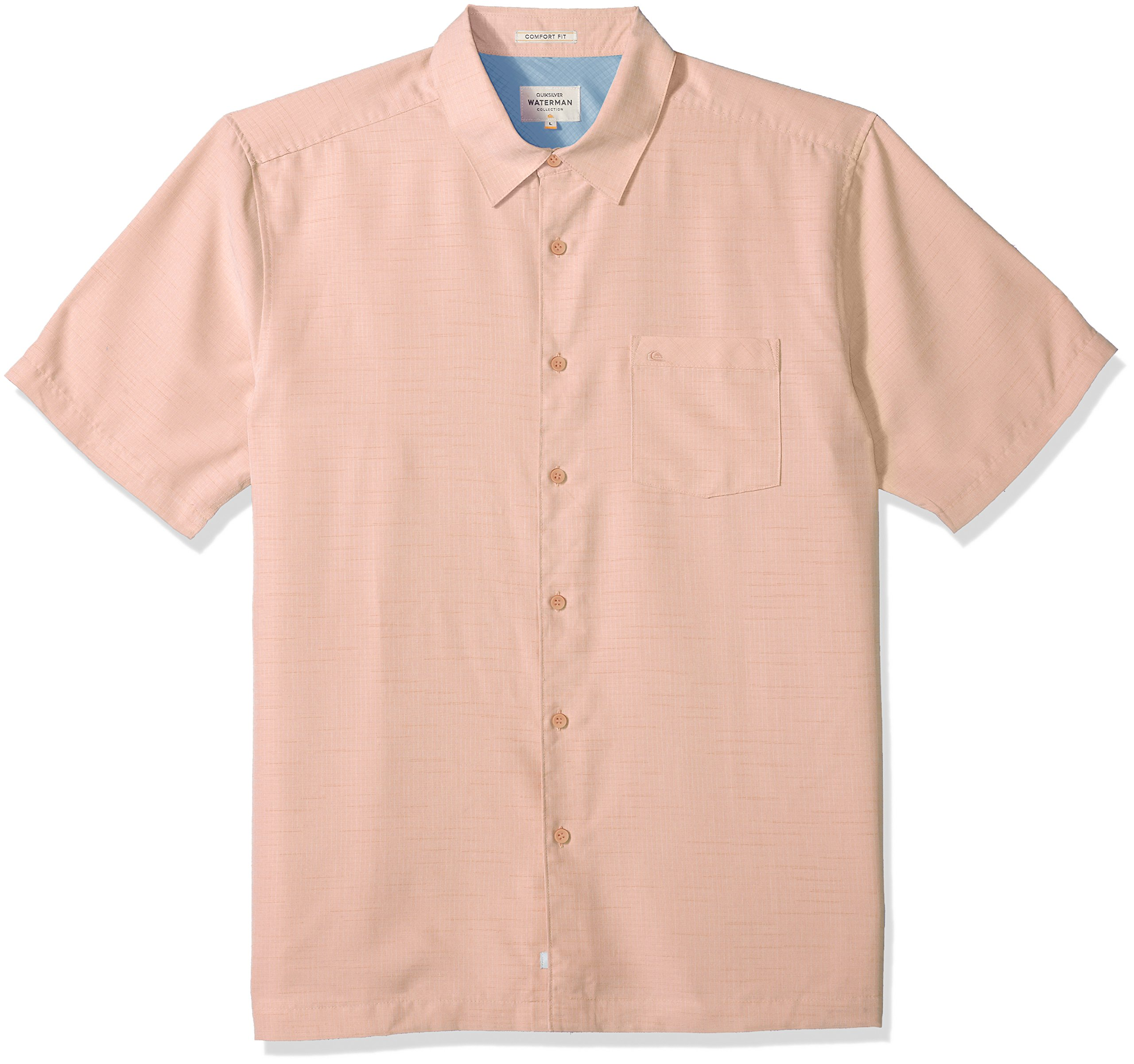 4c74a844 Galleon - Quiksilver Waterman Men's Centinela 4 Button Down Shirt, Dusty  Coral, M