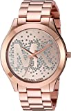 Michael Kors Women's Slim Runway Logo Rose Gold-Tone Watch MK3591