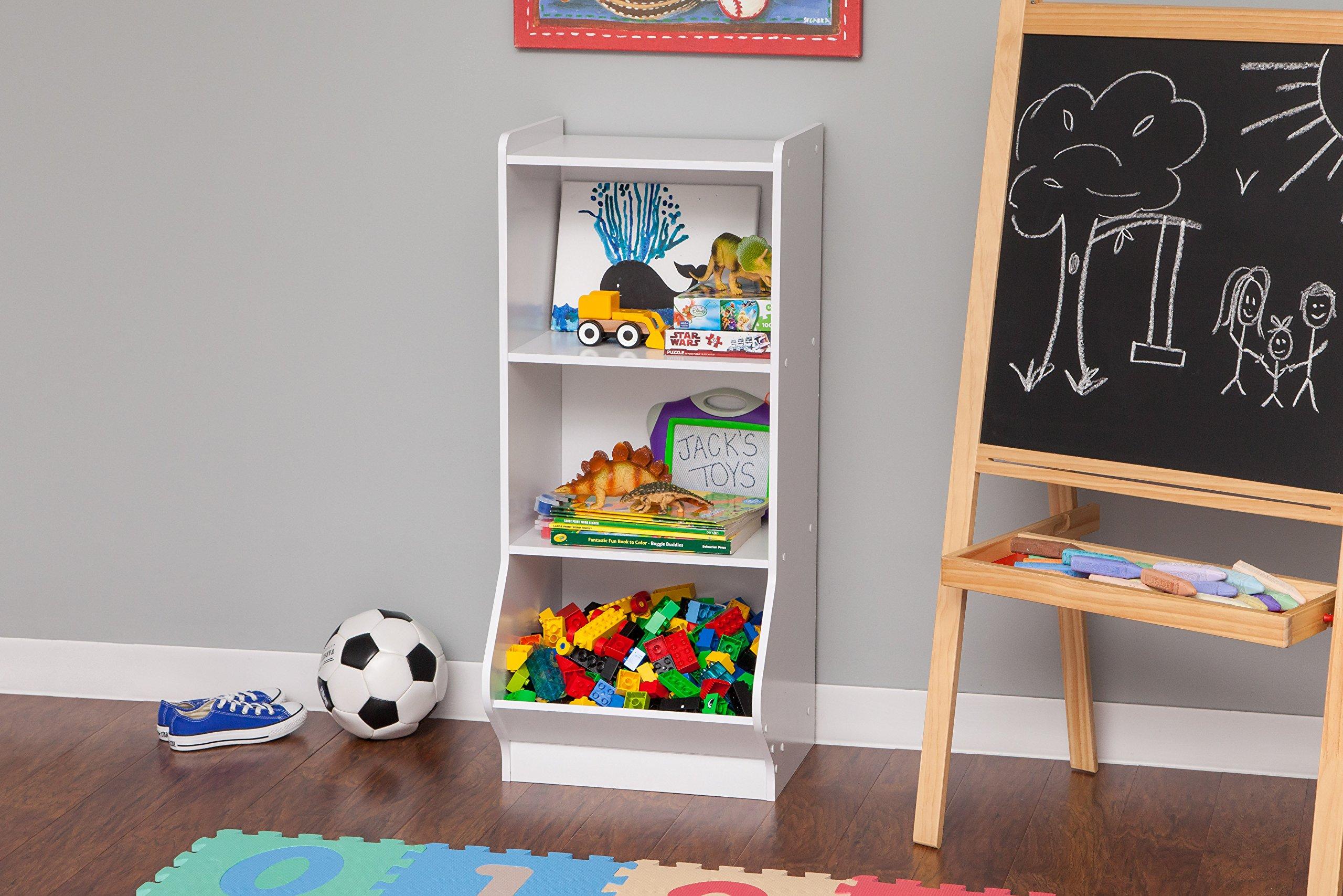IRIS 3-Tier Storage Organizer Shelf with Footboard, White by IRIS USA, Inc. (Image #3)