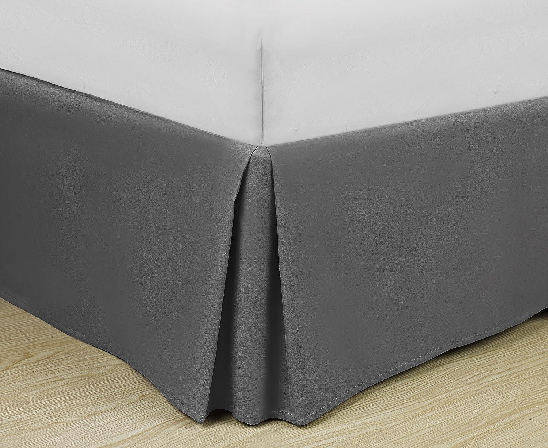 Black, King Ultra Soft Hypoallergenic Wrinkle Resistant Double Brushed Microfiber Bed Skirt