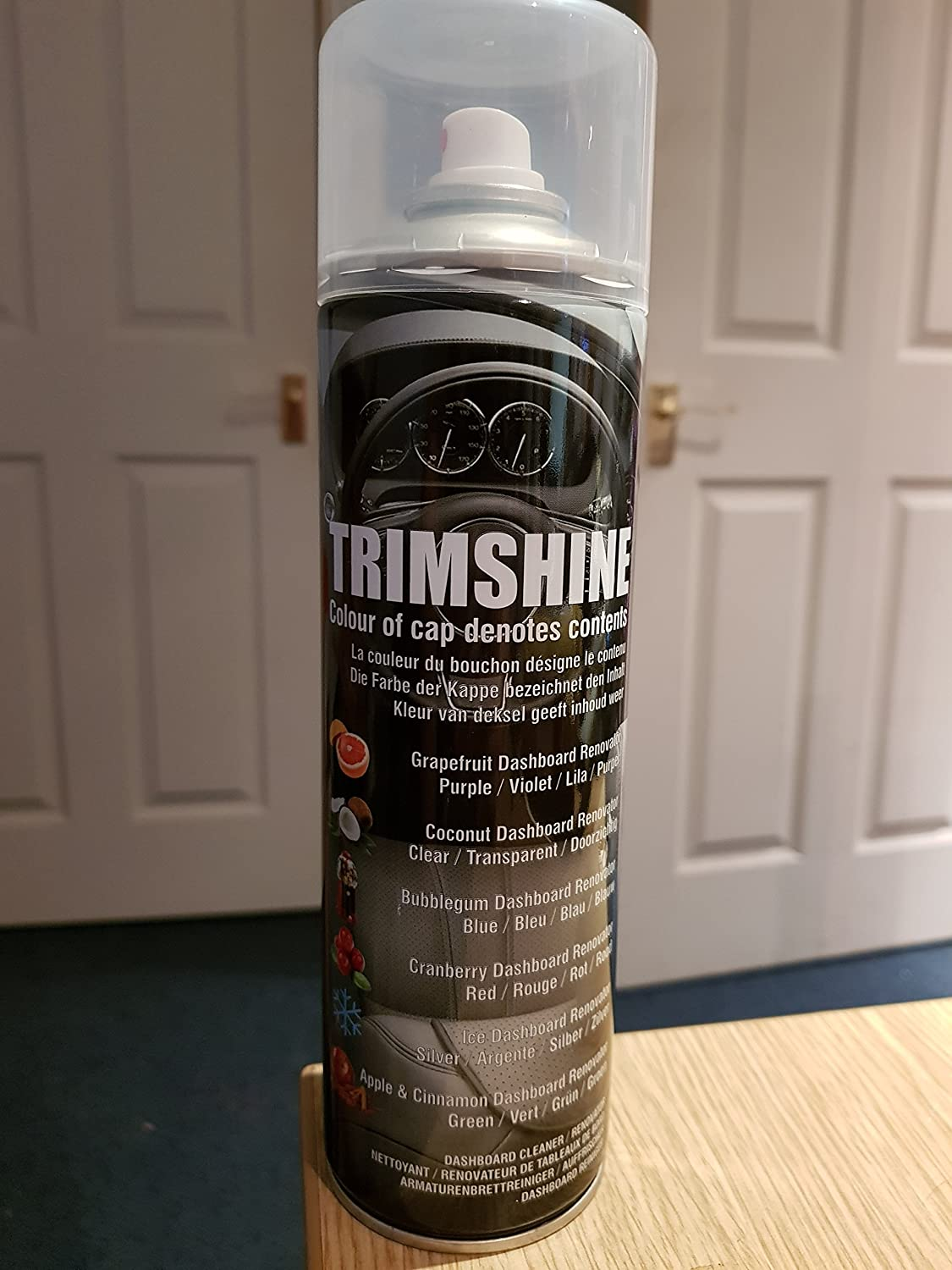 Scented Trimshine Dashboard, Cockpit, Rubber, Plastic and Vinyl Cleaner for Cars, Vans, Buses, Coaches - Coconut Aztec