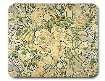 Amazon Com Alphonse Mucha And Art Nouveau Art Mouse Pads Made In