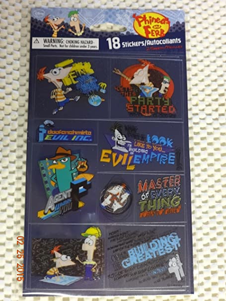Phineas and Ferb Stickers Holographic Party Supplies